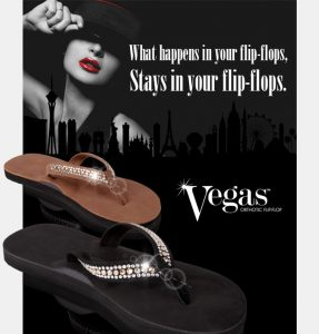 Vegas custom orthotic flip-flop