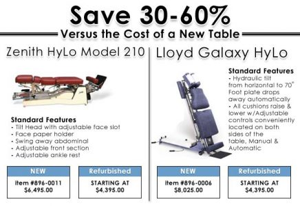 Reconditioned Chiropractic Tables