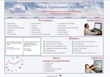 Online Appointment Scheduler for chiropractors, massagist, spa