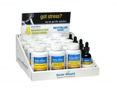 Adrenal Fatigue Quartet Shelf Display