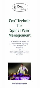 Cox Technic for Spinal Pain Management