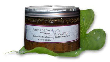 Exotic Lavender, Dead Sea Salt Scrub, with Seaweed Extract