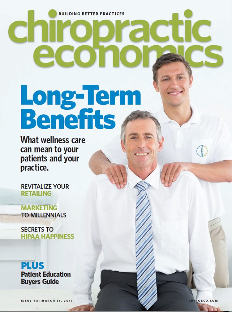 Issue 5 Cover of Chiropractic Economics