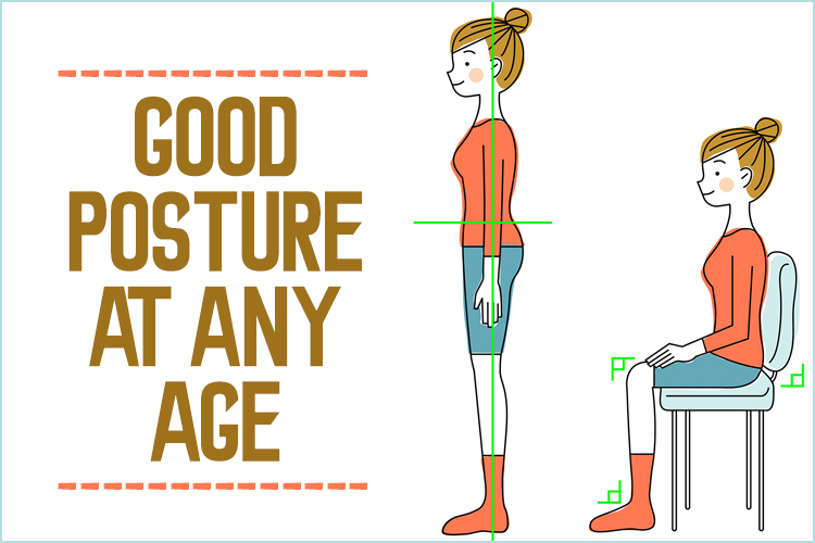 May is national posture month. To celebrate, learn how to have good posture at any age, through strengthening of the spine and good habits.
