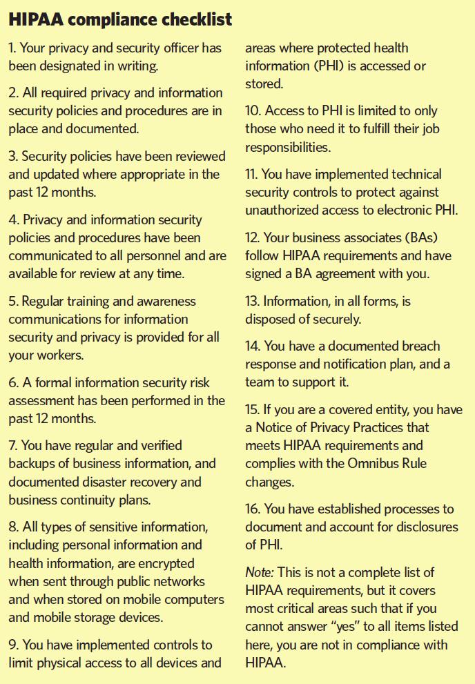 CE07_Feature_Sidebar1_HIPAA Comp checklist