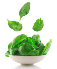 Get your recommended dose of folic acid with leafy green vegetables or as a nutrition supplement.