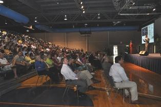 Derrell Pratt-Blackburn presenting during 2011 Talk the TIC Finals