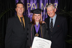 Dr. Meghan Austin Dowling with her father, Dr. Thomas Austin (left), and grandfather, Dr. Douglas Austin.