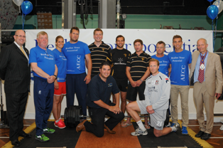 BRFC players with AECC staff and members of the Icelandic Olympic team.