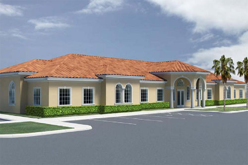 Artist's concept of the NUHS Whole Health Center exterior.