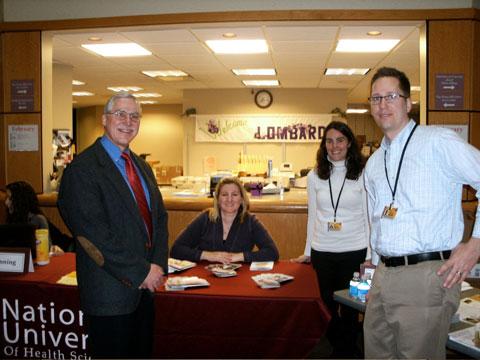 (R-L) Dr. Greg Cramer, Dr. Anna Jurik, Dr. Kelly Baltazar, Dr. Brian Anderson