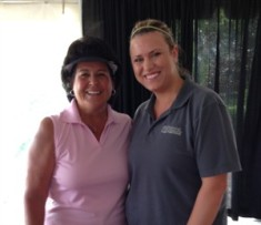 Golf legend Nancy Lopez and Jennifer Illes, DC